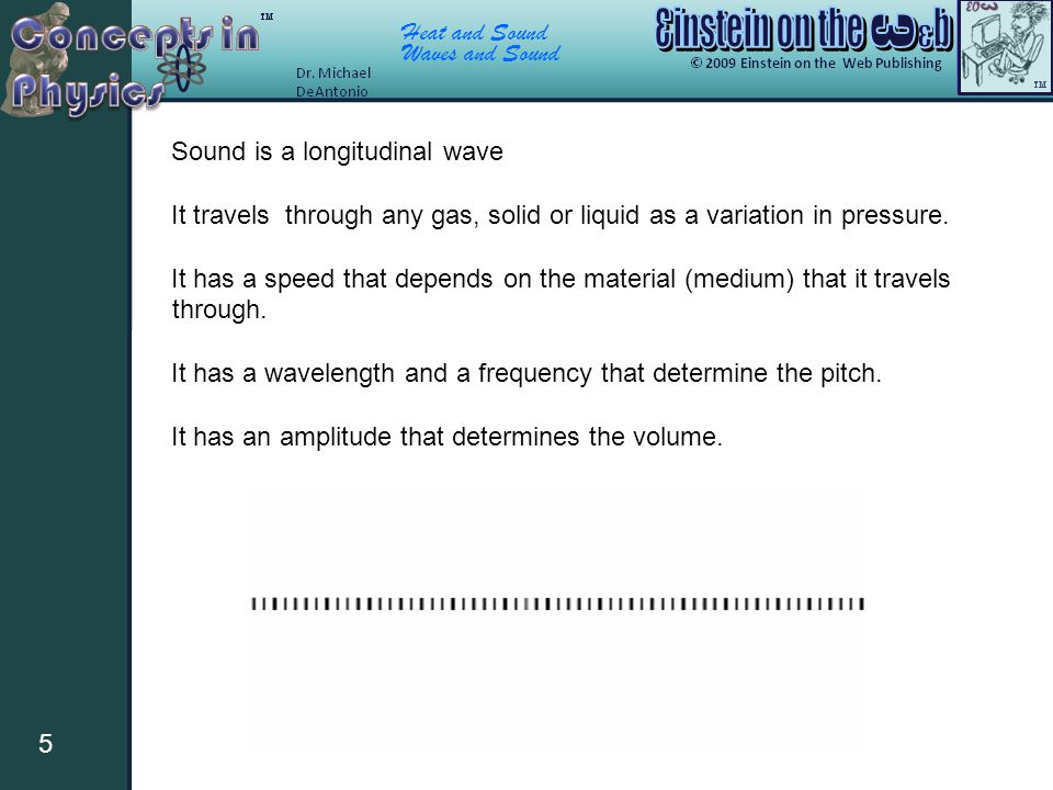 Sound is a longitudinal wave
