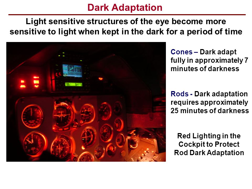 Red Lighting in the Cockpit to Protect Rod Dark Adaptation