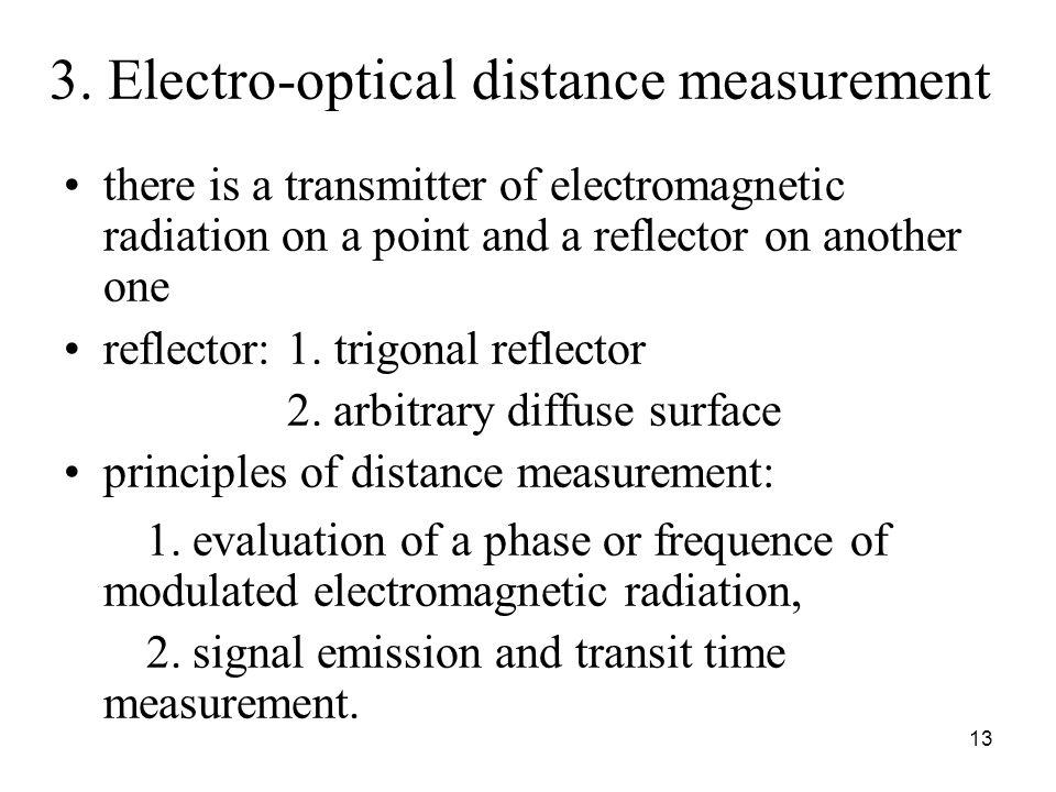 3. Electro-optical distance measurement