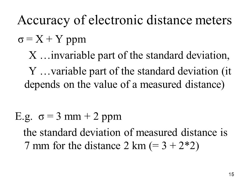 Accuracy of electronic distance meters