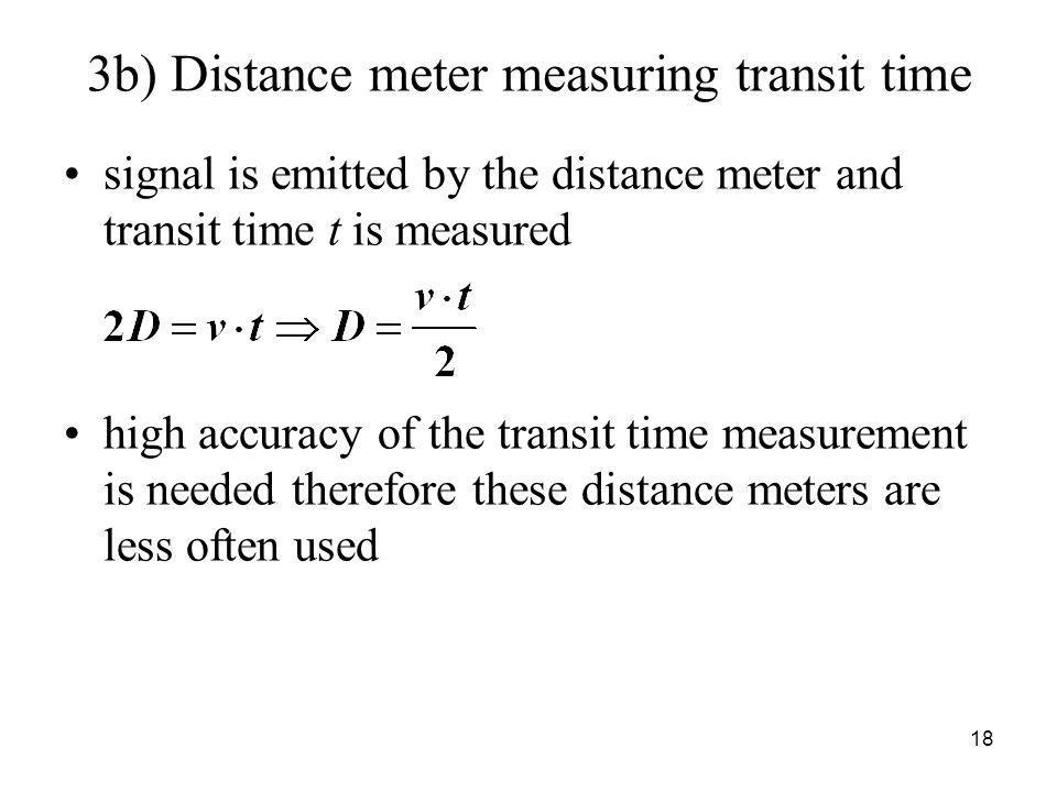 3b) Distance meter measuring transit time