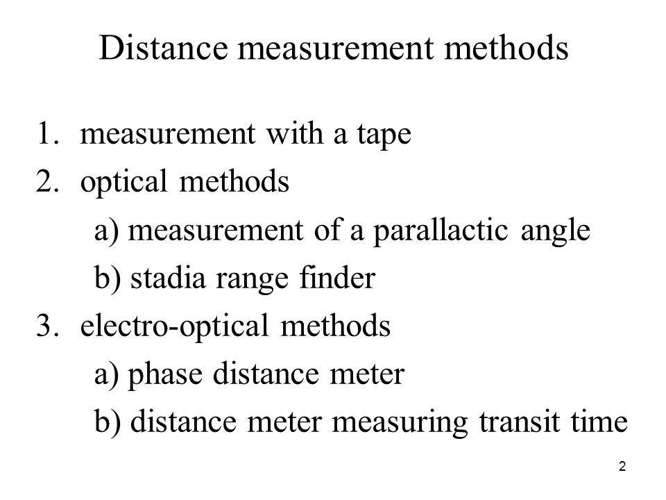 Distance measurement methods