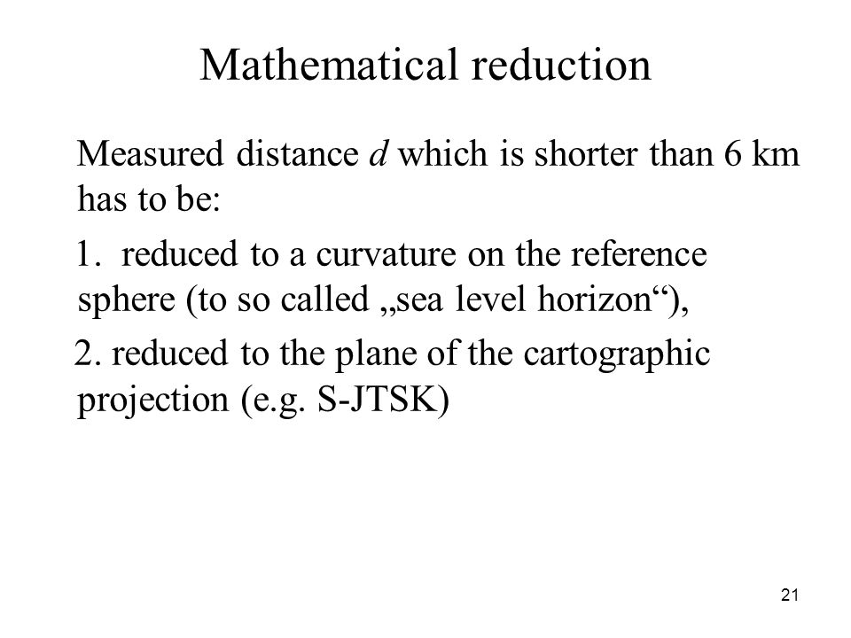 Mathematical reduction