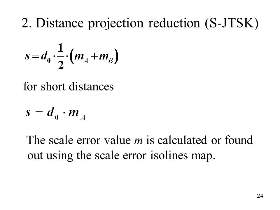 2. Distance projection reduction (S-JTSK)