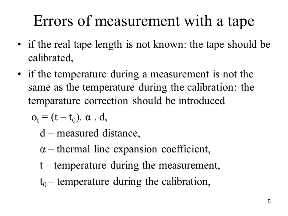 Errors of measurement with a tape