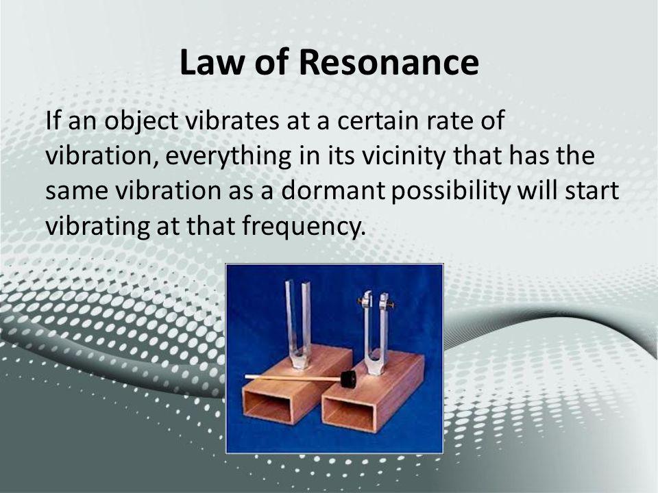 Law of Resonance