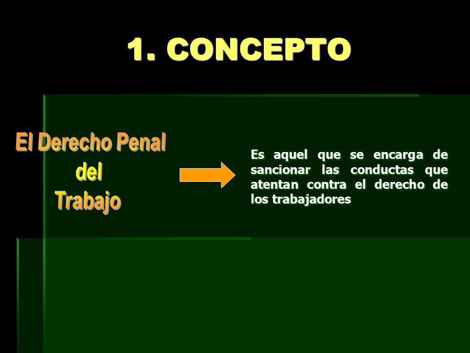 1. CONCEPTO El Derecho Penal del Trabajo