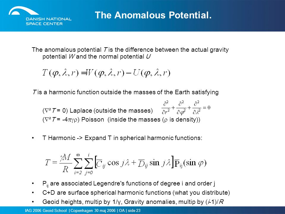 The Anomalous Potential.