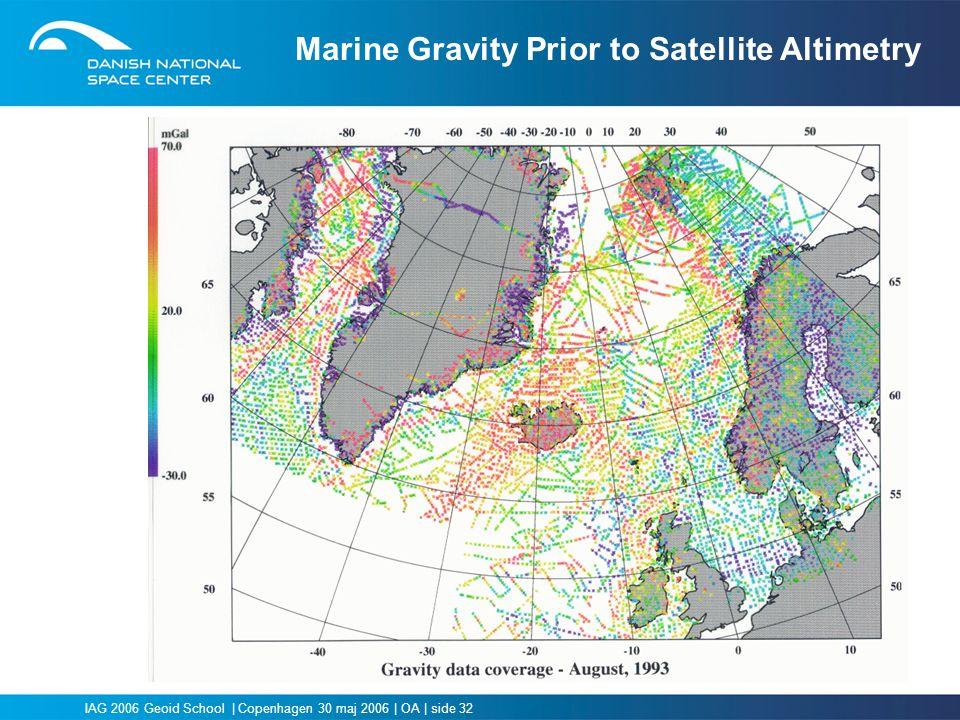 Marine Gravity Prior to Satellite Altimetry