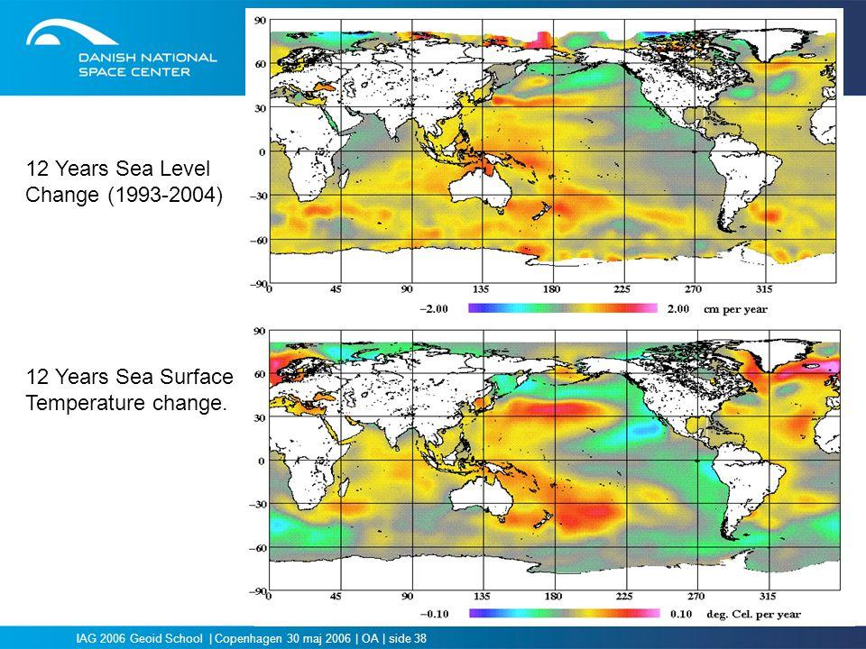 12 Years Sea Level Change (1993-2004) 12 Years Sea Surface