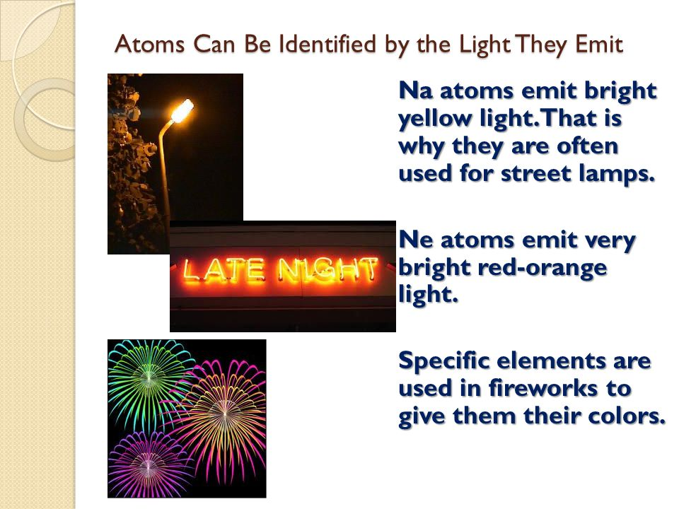 Atoms Can Be Identified by the Light They Emit