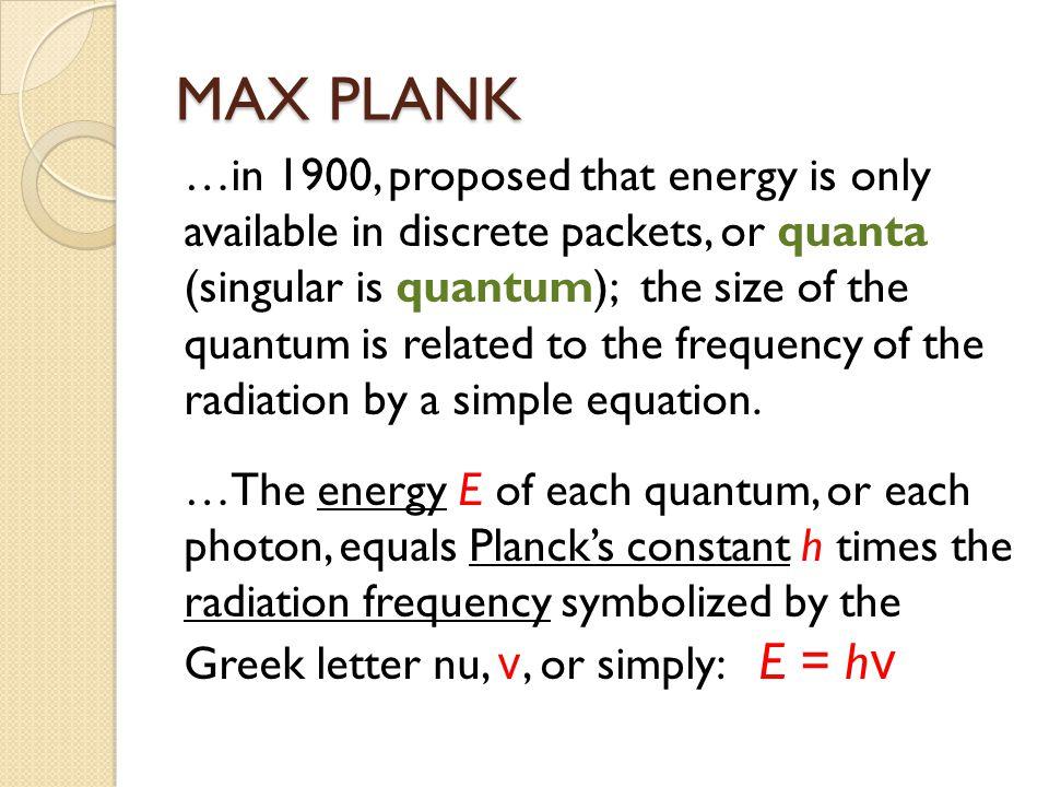 MAX PLANK
