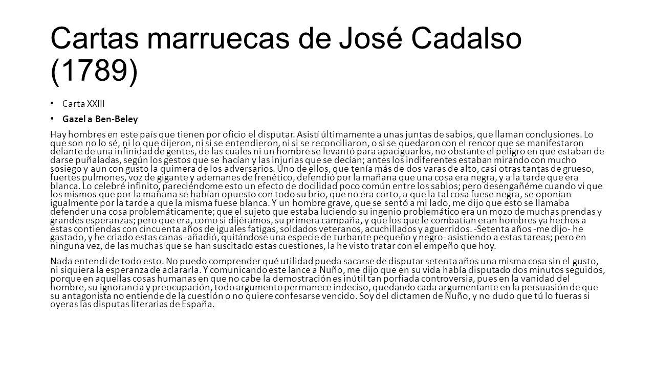 Cartas marruecas de José Cadalso (1789)