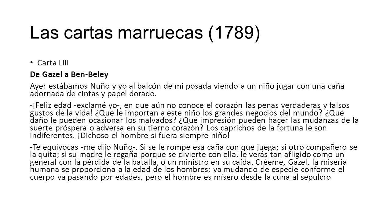 Las cartas marruecas (1789)