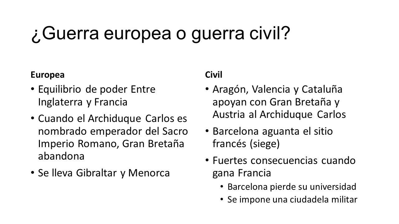 ¿Guerra europea o guerra civil