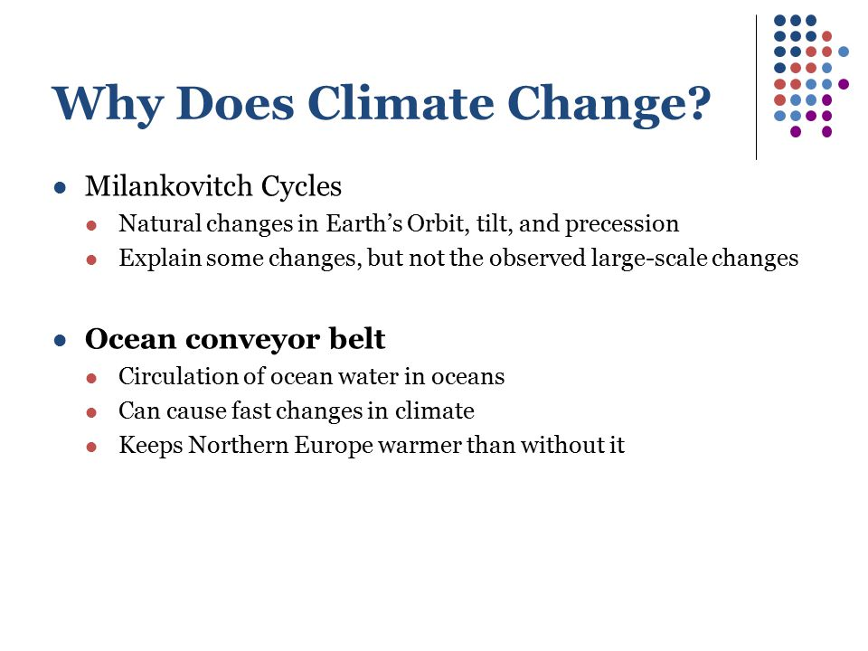 Why Does Climate Change