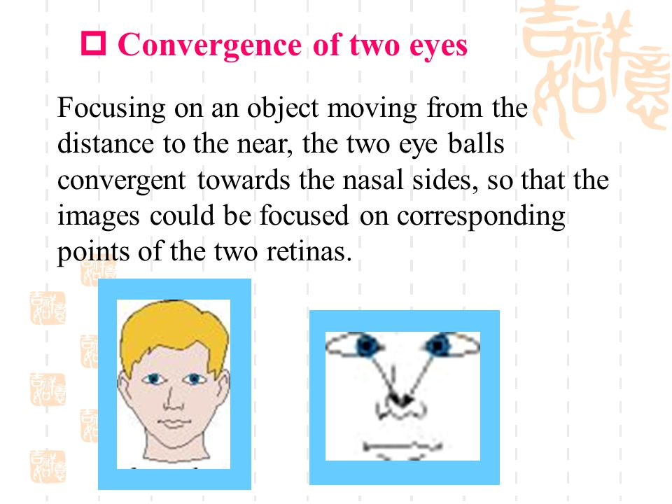 Convergence of two eyes