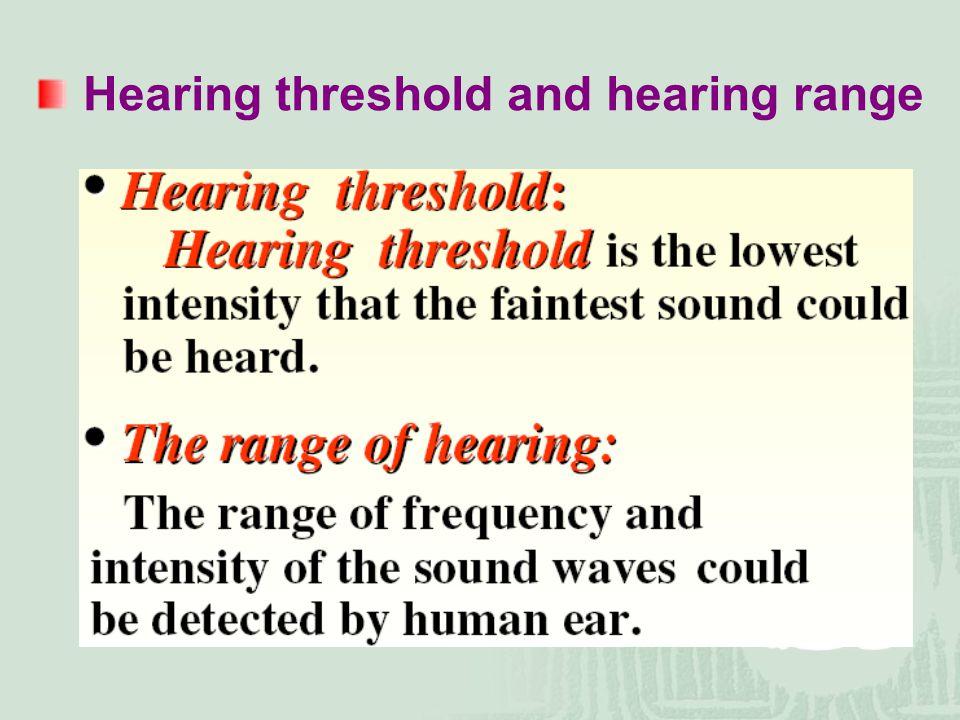 Hearing threshold and hearing range