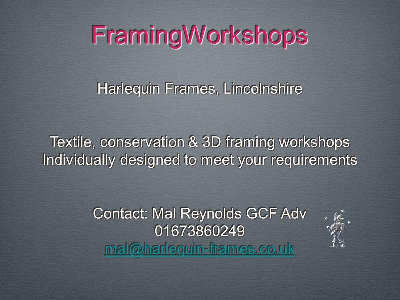 FramingWorkshops Harlequin Frames, Lincolnshire
