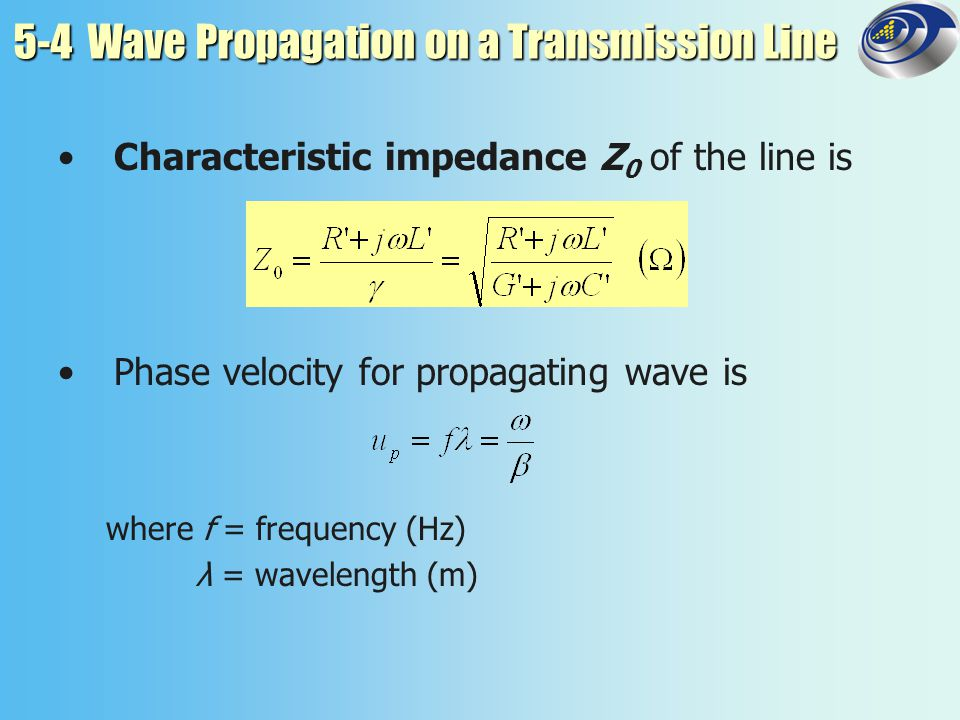 5-4 Wave Propagation on a Transmission Line