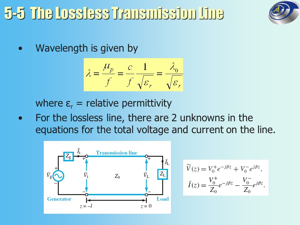 5-5 The Lossless Transmission Line