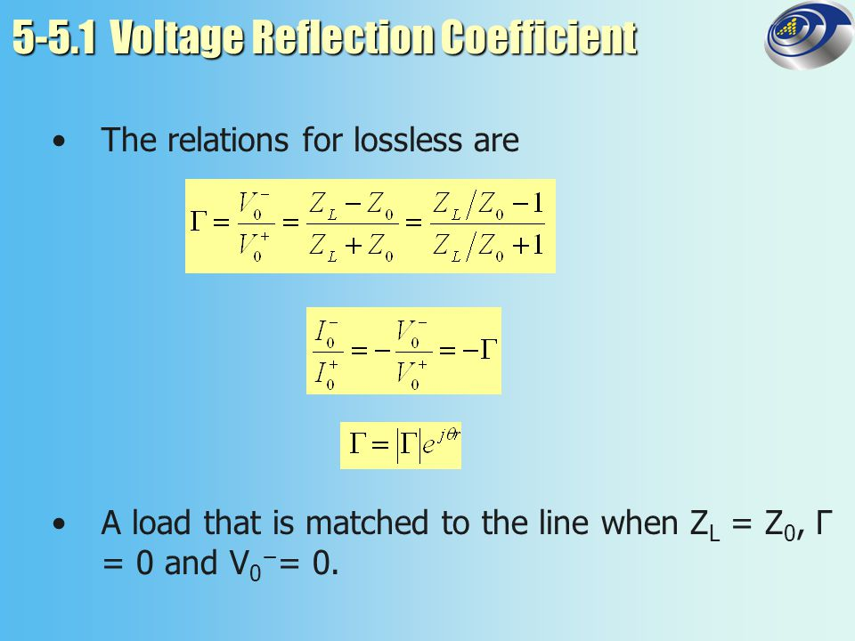 5-5.1 Voltage Reflection Coefficient