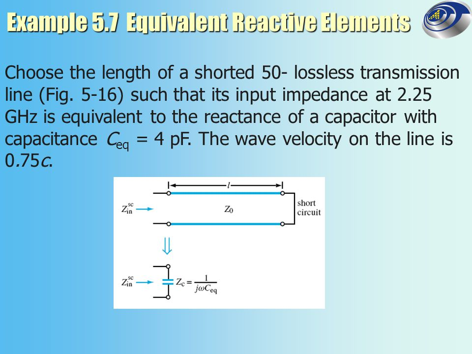 Example 5.7 Equivalent Reactive Elements