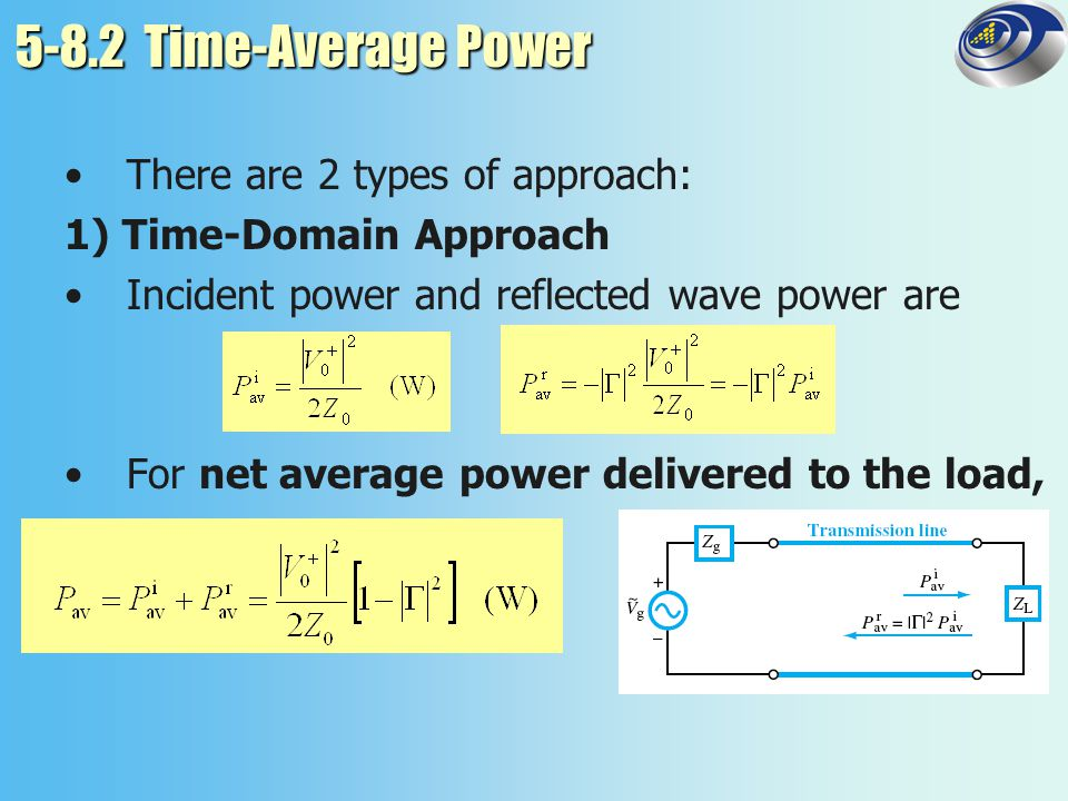 5-8.2 Time-Average Power There are 2 types of approach: