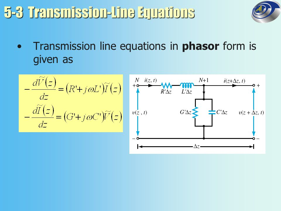 5-3 Transmission-Line Equations