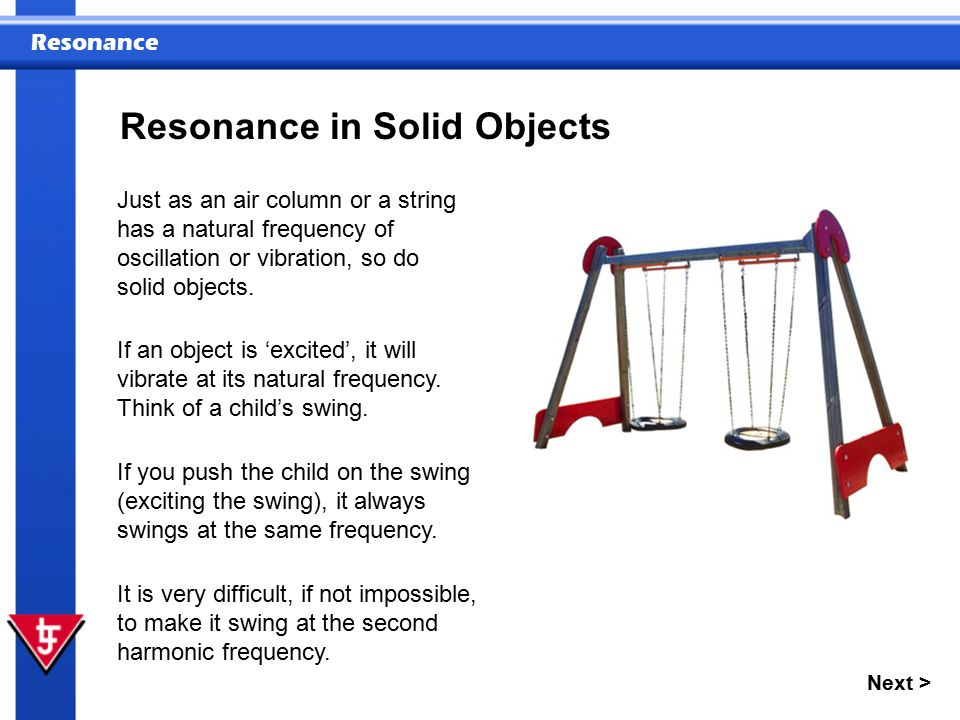 Resonance in Solid Objects