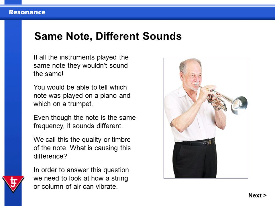 Same Note, Different Sounds