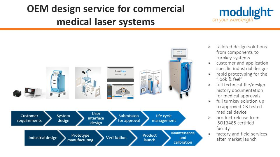 OEM design service for commercial medical laser systems