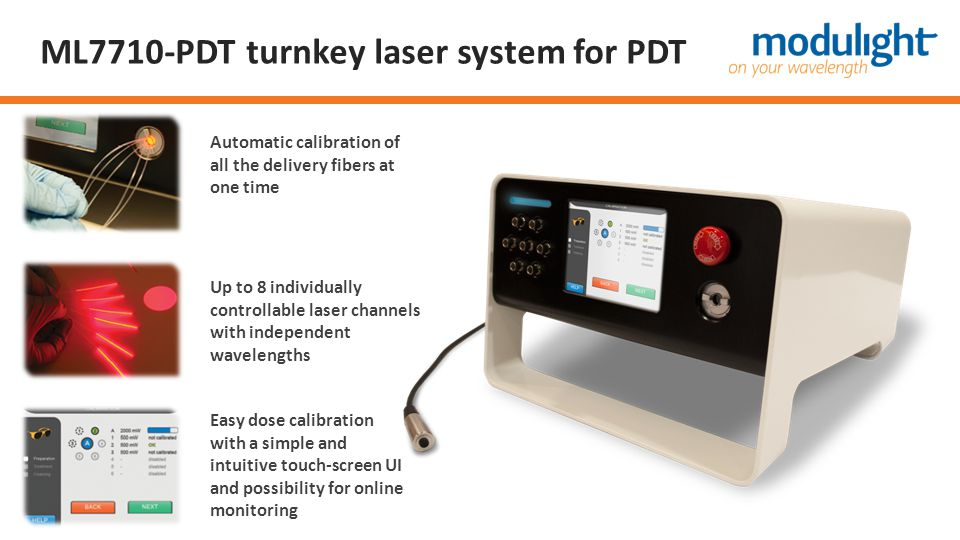 ML7710-PDT turnkey laser system for PDT