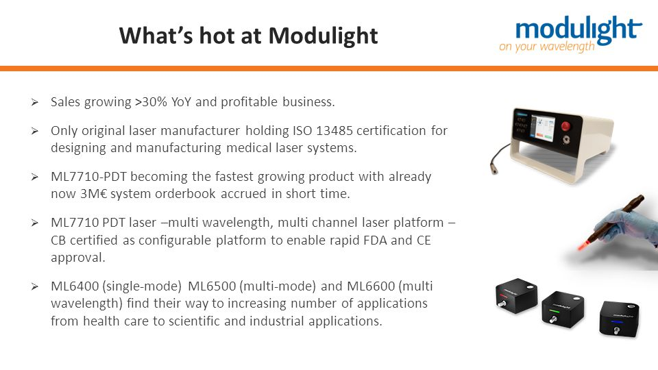 What's hot at Modulight