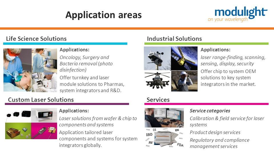 Application areas Life Science Solutions Industrial Solutions