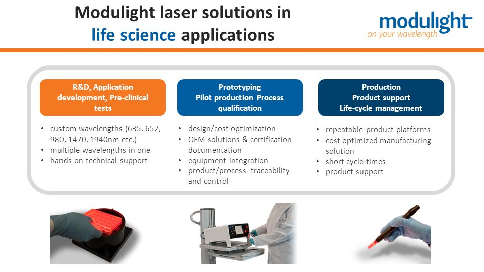 Modulight laser solutions in life science applications