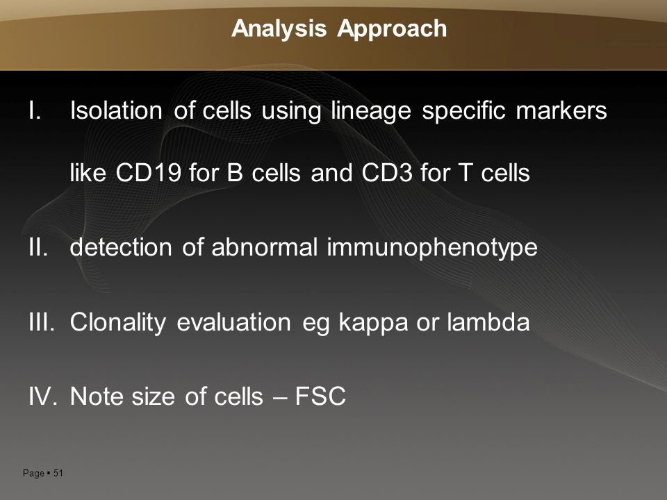 detection of abnormal immunophenotype