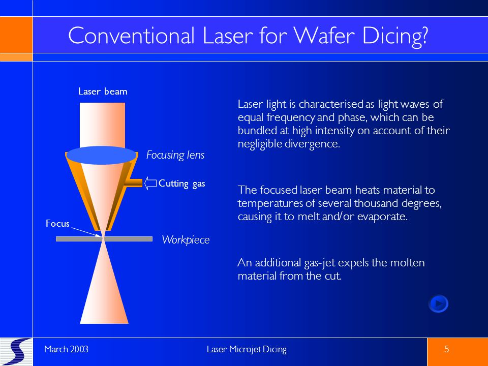 Conventional Laser for Wafer Dicing