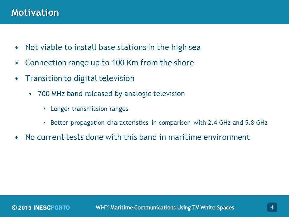 Wi-Fi Maritime Communications Using TV White Spaces