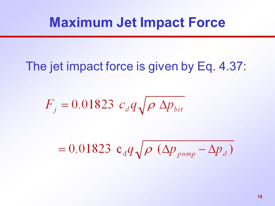 Maximum Jet Impact Force