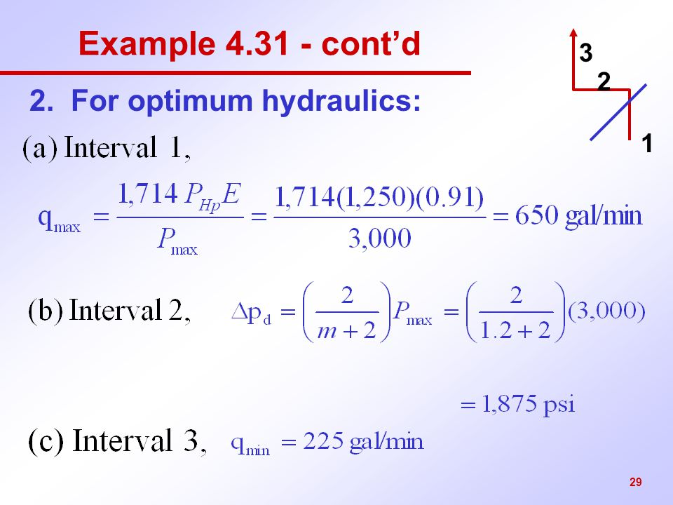 2. For optimum hydraulics: