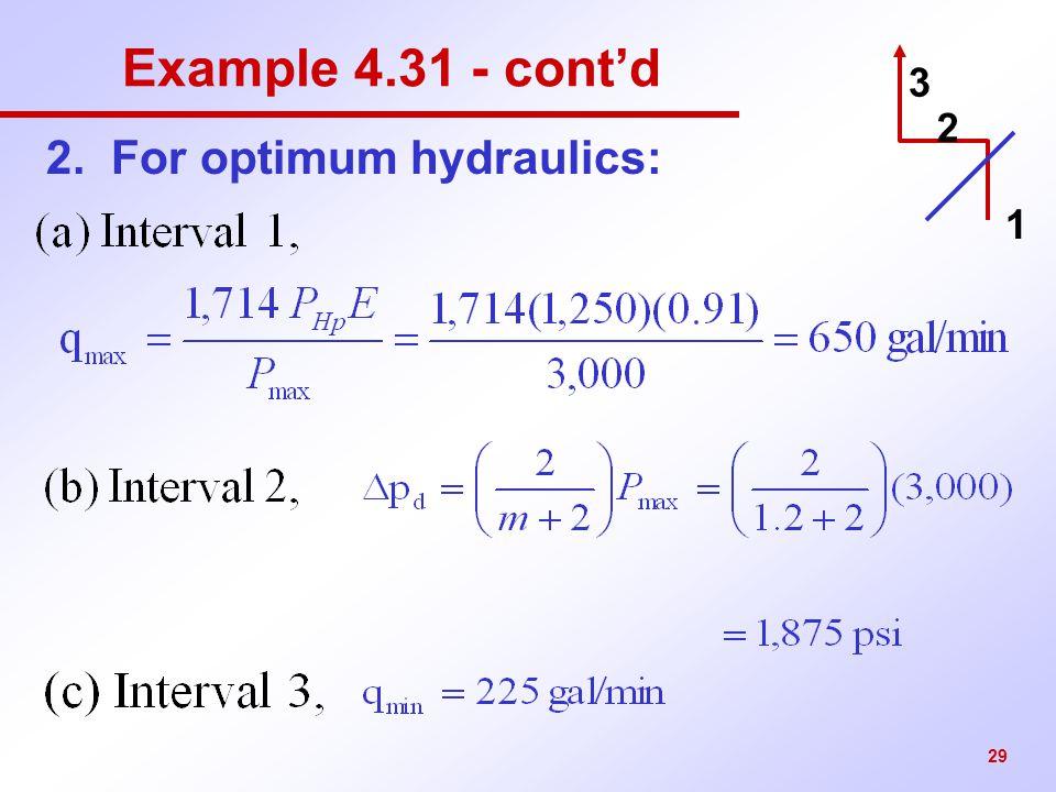 2. For optimum hydraulics: