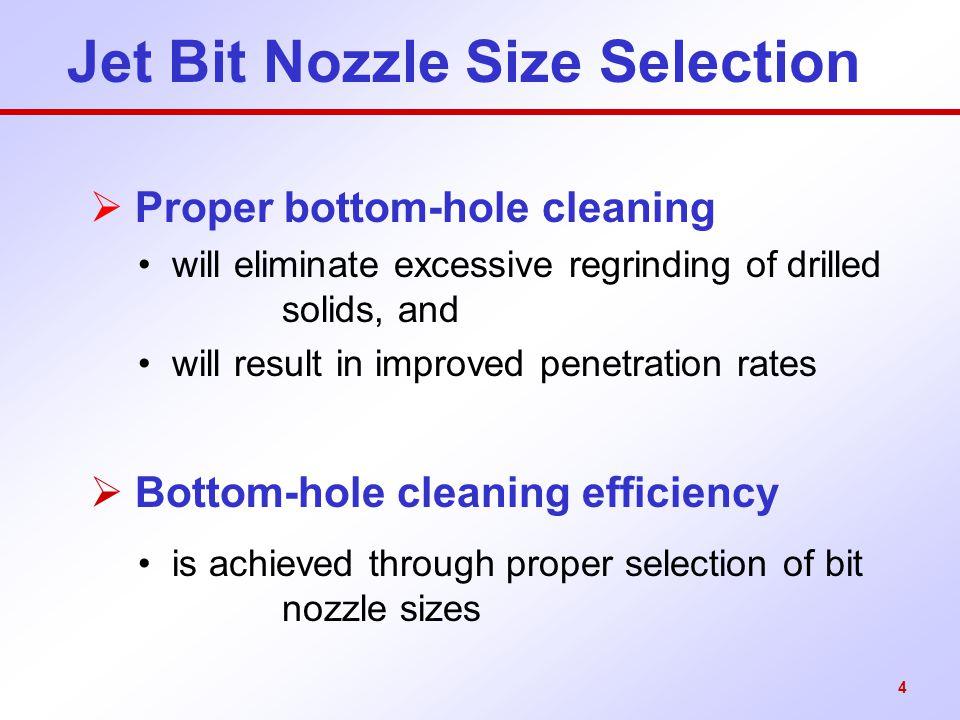 Jet Bit Nozzle Size Selection