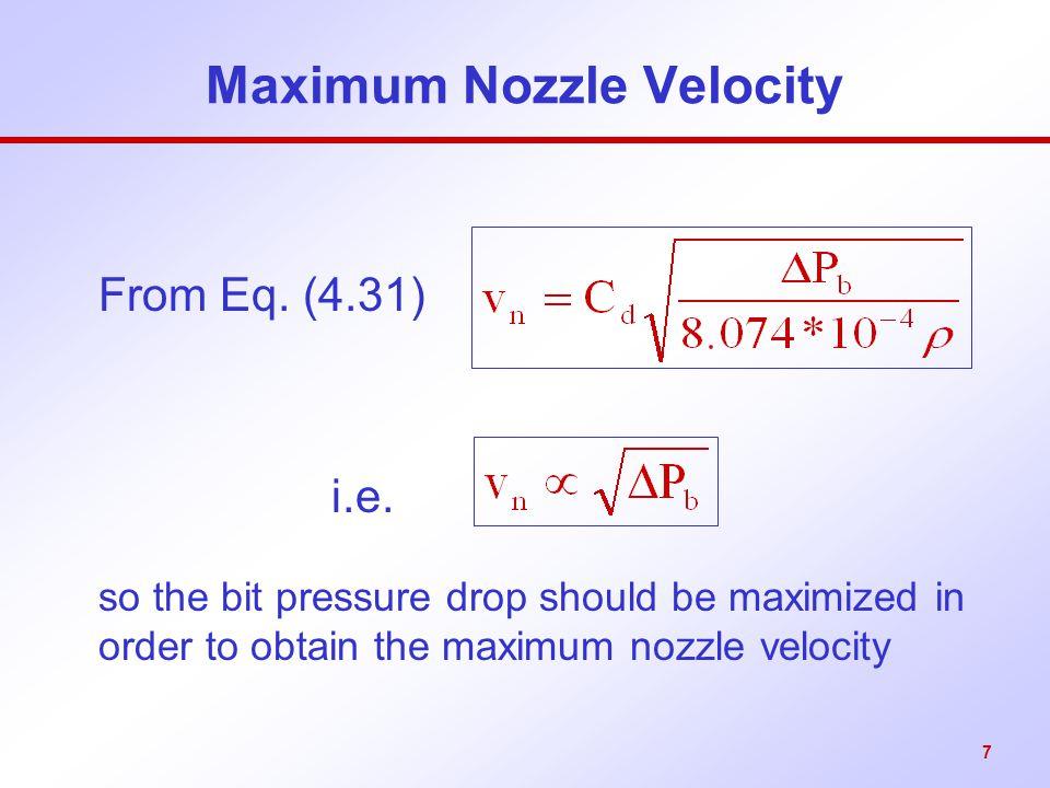 Maximum Nozzle Velocity