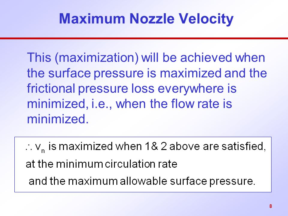 Maximum Nozzle Velocity