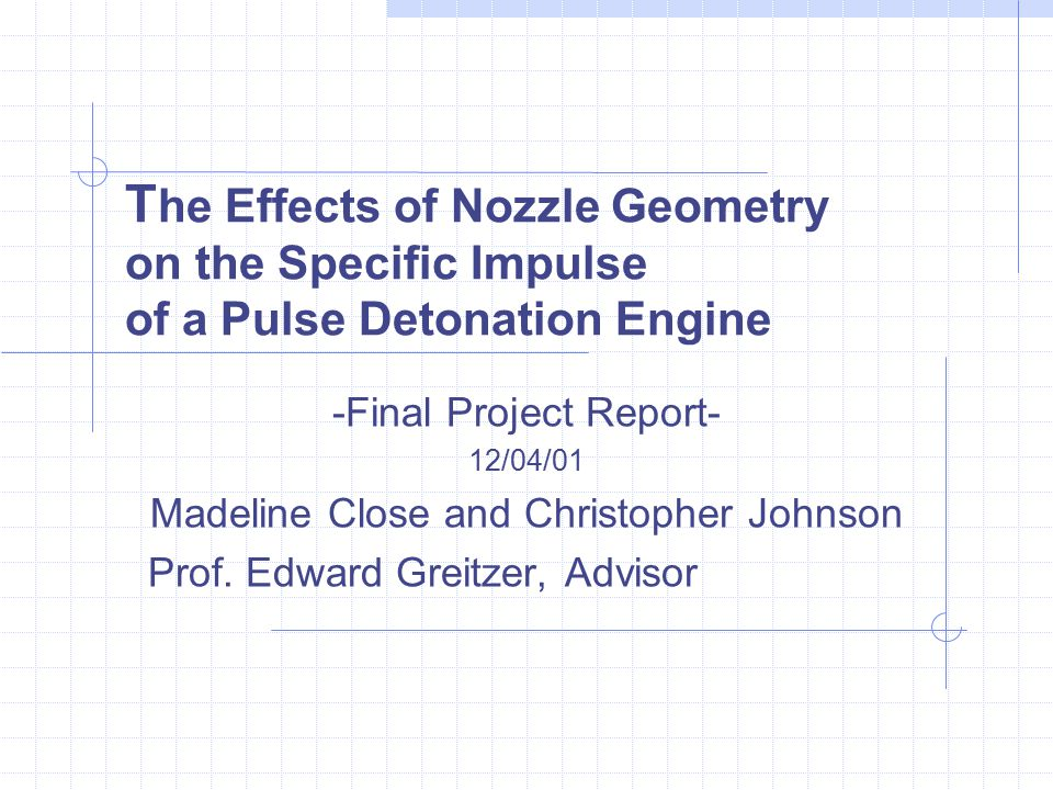 The Effects of Nozzle Geometry on the Specific Impulse of a Pulse Detonation Engine