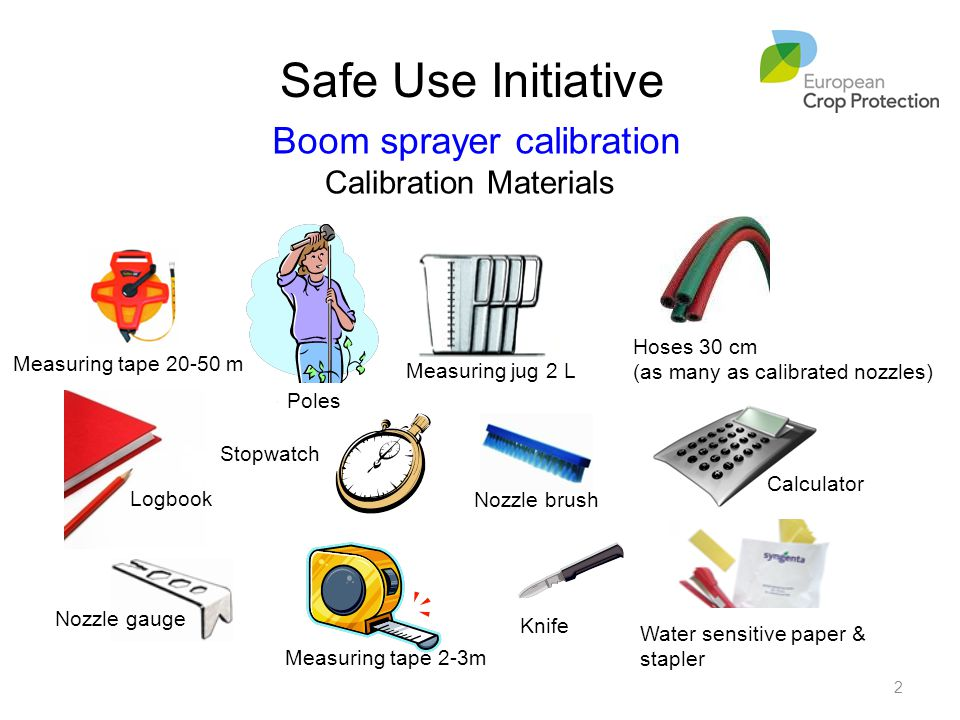 Boom sprayer calibration