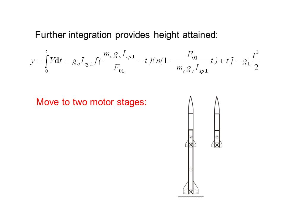 Further integration provides height attained: