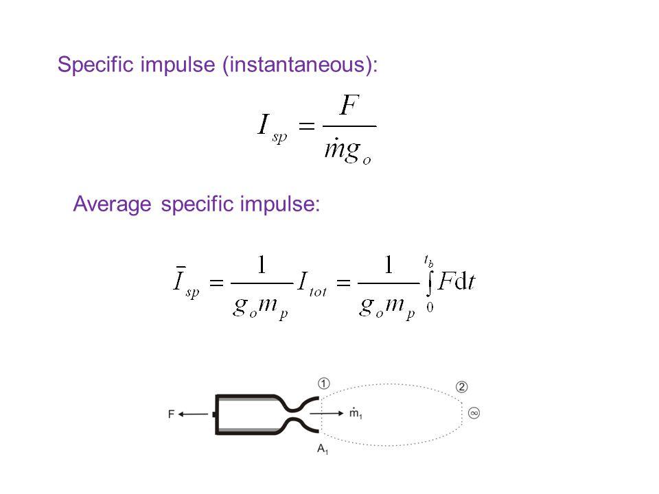 Specific impulse (instantaneous):