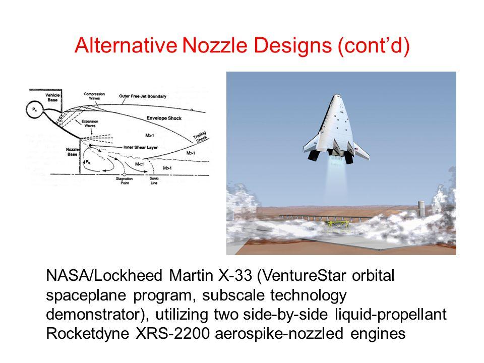 Alternative Nozzle Designs (cont'd)